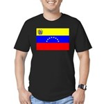 Venezuela Flag Men's Fitted T-Shirt (dark)