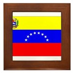 Venezuela Flag Framed Tile