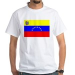 Venezuela Flag White T-Shirt