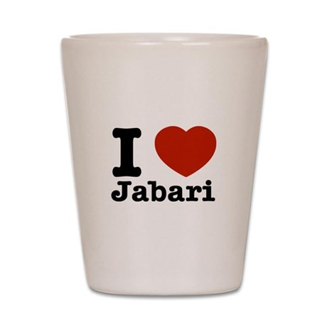 I love Jabari Shot Glass