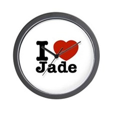 I love Jade Wall Clock