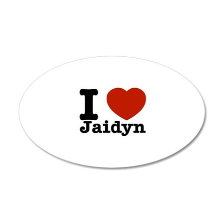 I love Jaidyn 22x14 Oval Wall Peel