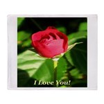 I Love You! Throw Blanket