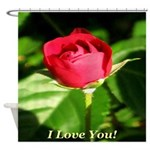 I Love You! Shower Curtain