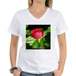 I Love You! Women's V-Neck T-Shirt