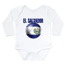 Futbol de El Salvador Long Sleeve Infant Bodysuit