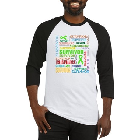 Survivor Non-Hodgkin Lymphoma Baseball Jersey