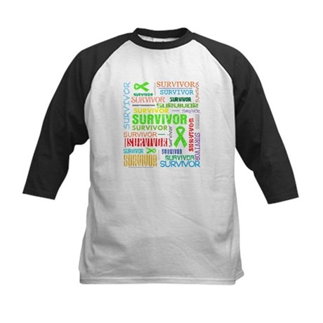 Survivor Non-Hodgkin Lymphoma Kids Baseball Jersey
