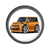 Scion XB Orange Car Wall Clock