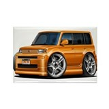 Scion XB Orange Car Rectangle Magnet