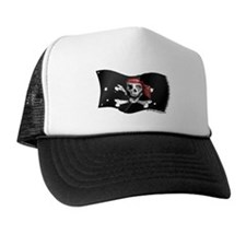Caribbean Pirate Battle Flag Trucker Hat