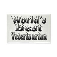 WORLDS BEST Veterinarian Rectangle Magnet