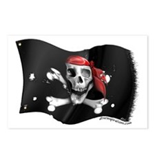 Caribbean Pirate Flag Postcards (Package of 8)
