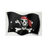 Caribbean Pirate Flag Rectangle Magnet