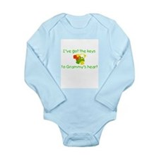 Funny Grandmas boy Long Sleeve Infant Bodysuit