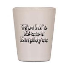 WORLDS BEST Employee Shot Glass