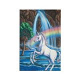 Rainbow Unicorn Rectangle Magnet