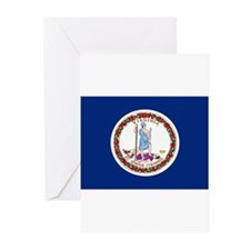 Virginia Flag Greeting Cards (Pk of 20)