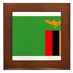 Zambia Flag Framed Tile