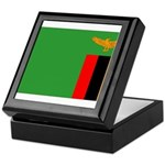Zambia Flag Keepsake Box