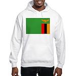 Zambia Flag Hooded Sweatshirt