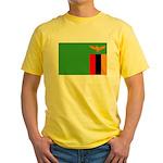 Zambia Flag Yellow T-Shirt
