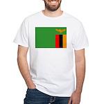 Zambia Flag White T-Shirt