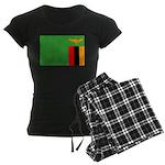 Zambia Flag Women's Dark Pajamas