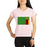 Zambia Flag Performance Dry T-Shirt