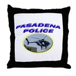 Pasadena Police Helicopter Throw Pillow