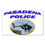 Pasadena Police Helicopter Sticker (Rectangle 10 p