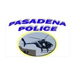 Pasadena Police Helicopter 38.5 x 24.5 Wall Peel