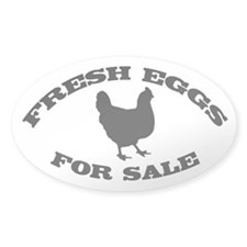 Fresh Eggs For Sale black Decal