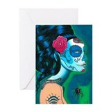 Funny Skull Greeting Card