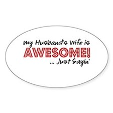 Husbands Wife Awesome Decal