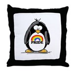 GLBT Penguin Throw Pillow