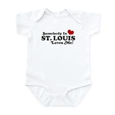 Somebody In St. Louis Loves Me Onesie