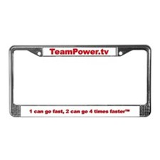 TeamPower.tv License Plate Frame