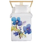 Watercolor Flowers Twin Duvet