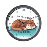 Eat, Sleep, Eat Wall Clock