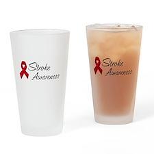Stroke Awareness Drinking Glass