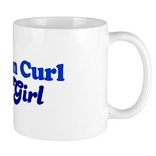 American Curl Cat Loving Girl Mug