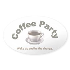 Coffee Party Be the Change Decal