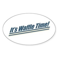 It's Waffle Time! Oval Decal