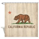 Vintage California Republic Shower Curtain