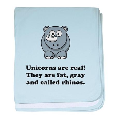 Unicorn Rhino baby blanket