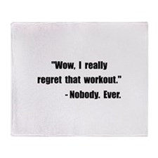 Workout Quote Throw Blanket