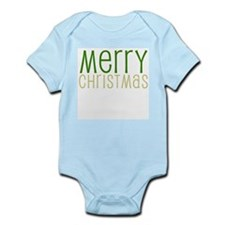 Merry Christmas Green Infant Creeper