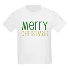 Merry Christmas Green Kids T-Shirt