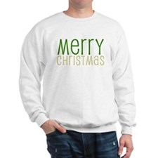 Merry Christmas Green Sweatshirt